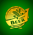 template beer emblem vector image vector image