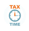 time to pay tax - icon accounting reminder vector image vector image
