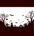 traditional halloween night background poster vector image vector image