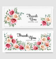 two holiday vintage greeting cards with colorful vector image vector image