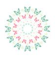 vivid butterfly kaleidoscope mandala vector image vector image