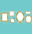 wall of frames vector image