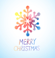 watercolor snowflake vector image vector image
