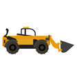 wheel loader vehicle icon vector image vector image