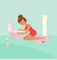 young woman experiencing nausea vector image vector image
