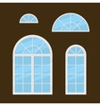 Flat Style Windows Types Set vector image