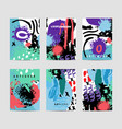 set of artistic creative cards use for vector image