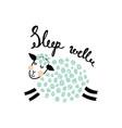 sleep well vector image