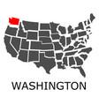 state of washington on map of usa vector image