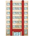 A tall condominium vector image vector image