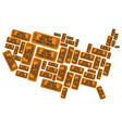 America made out of welcoming raffle tickets vector image