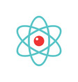 atom - concept icon in flat design graphic style vector image