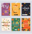 autumn sale website banners web template vector image vector image
