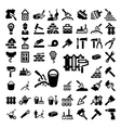 Big construction and repair icons set vector image