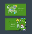 business card template for recycling vector image vector image