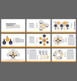 business presentation templates modern elements vector image