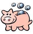 cartoon a happy money piggy bank vector image