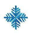 christmas sparkling snowflake logo design vector image vector image