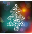 Christmas Tree From Symbols vector image vector image