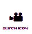 cinema camera icon flat vector image vector image