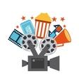 cinema concept design vector image vector image