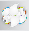 clean abstract template for webdesign vector image vector image
