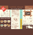 coffe house placemat vector image vector image