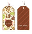 colorful cookies vertical round frame pattern tags vector image vector image