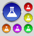 Conical Flask icon sign Round symbol on bright vector image vector image