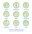 crypto coins 1 vector image vector image