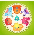 Cute monsters design vector image vector image