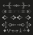 decorative border and frame set vector image vector image