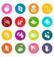 election voting icons set colorful circles vector image vector image