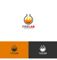 fire lab logo template vector image