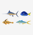 fish characters cartoon vector image vector image