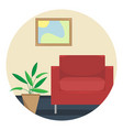 flat of the living room vector image