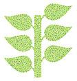 flora plant mosaic of dots vector image