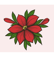 flower with leaves and buds vector image