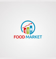 food market logo icon element and template for vector image