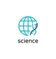global science logo design vector image vector image