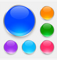glossy shiny buttons set in many colors vector image vector image
