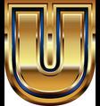 Golden Font Letter U vector image