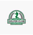 golf club badge logo-10 vector image vector image