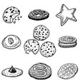 hand-drawn cookies vector image vector image