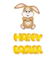 Happy easter cards with bunny