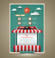 Hot promotion sale poster roof shop vintage style vector image vector image