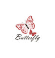 icon butterflies vector image