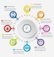 infographic template with time icons vector image