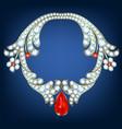 jewelry with diamonds vector image