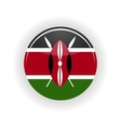 Kenya icon circle vector image